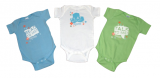 Set of 3 Brain Under Construction Onesies
