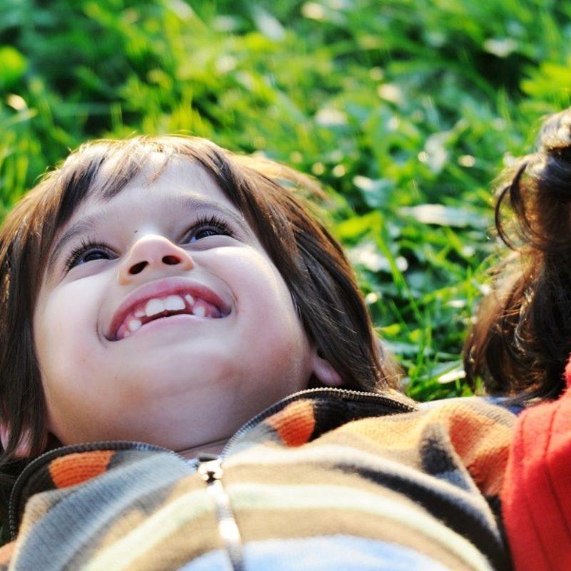 Children experiencing gratitude