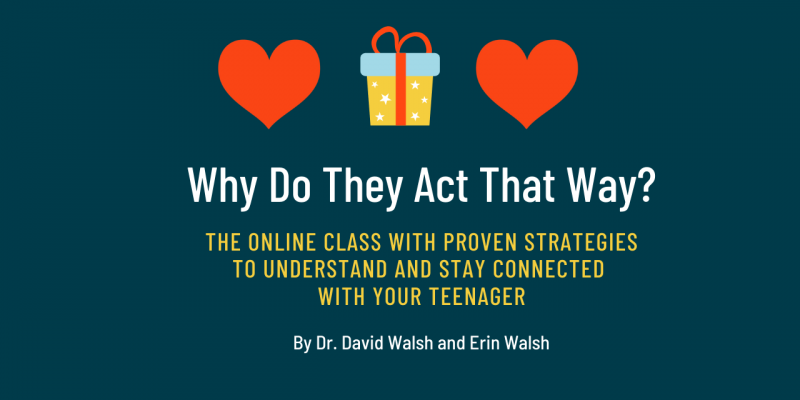 Give the gift of Why Do They Act That Way the online course for parenting teenagers