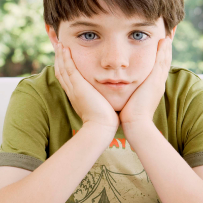 Young child looking bored