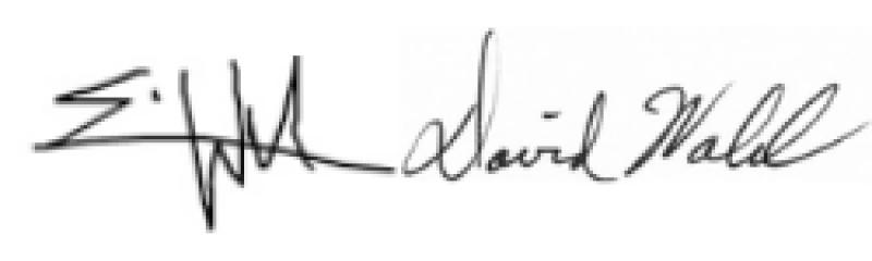 Dr. David Walsh and Erin Walsh signatures