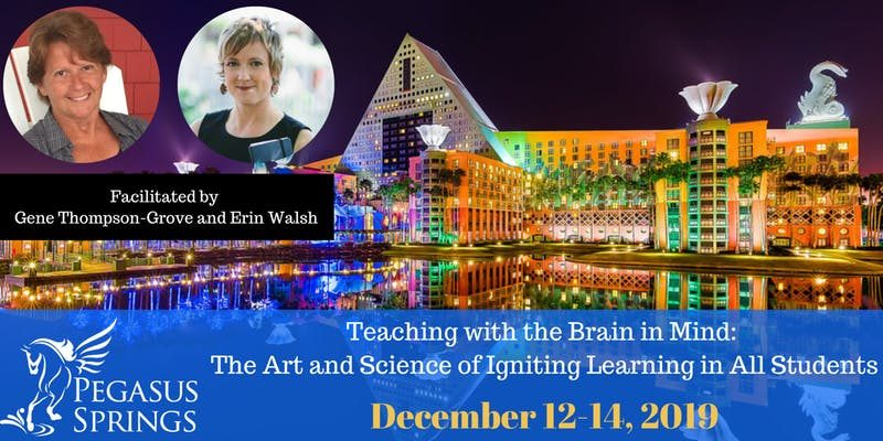 Pegasus Springs Education Collective presents a learning seminar Teaching With the Brain in Mind: Igniting Learning in All Students