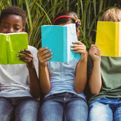 Kids reading to avoid summer slide